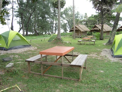 Campsite at Mai Khao Beach