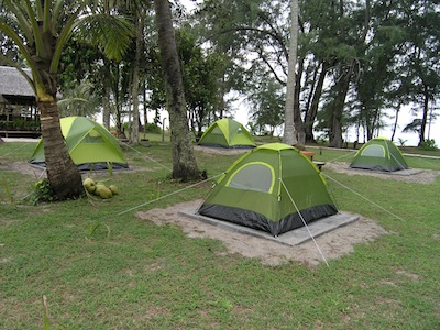 Camping at Mai Khao Beach