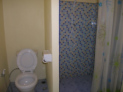 Shower and Toilet at Seaside Cottages