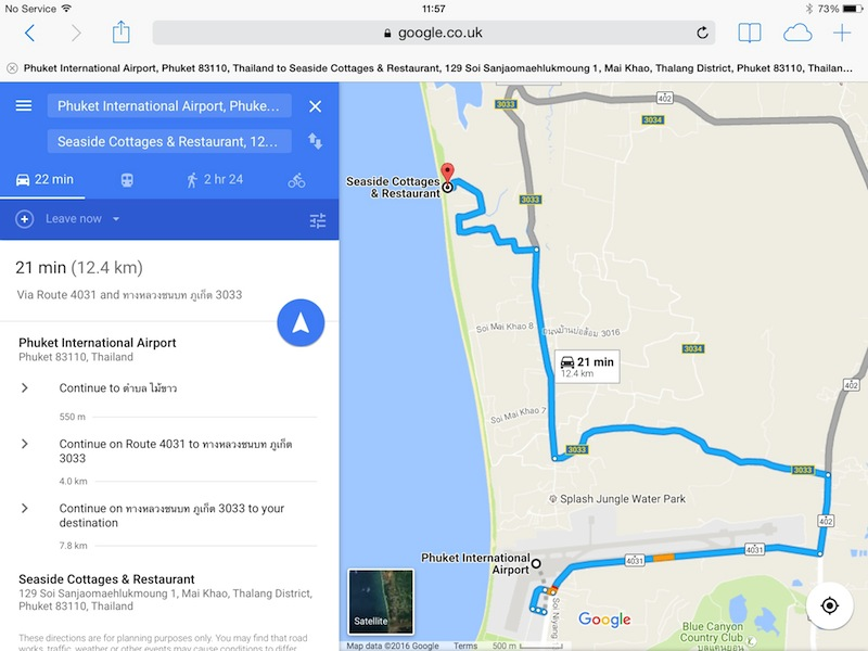 Directions to Seaside Cottages